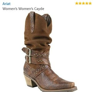 ARIAT WOMENS CAYDE SLOUCH BOOTS SZ 8